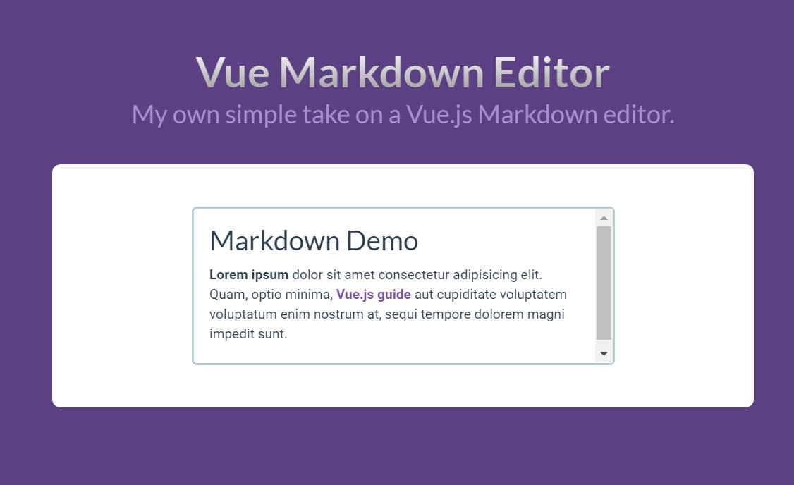 Vue.js Markdown Component