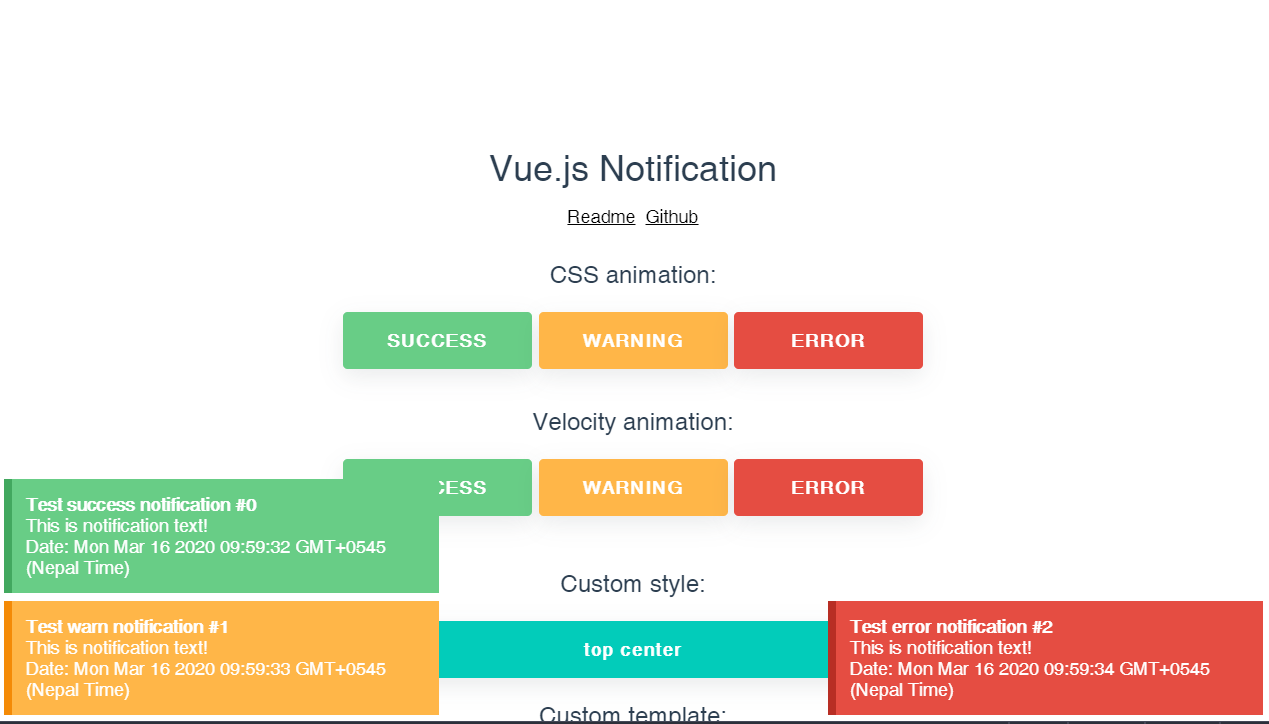 Vue.js Notification with Animation