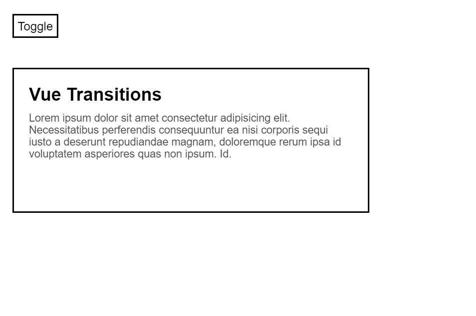 Vue JS Transition Component