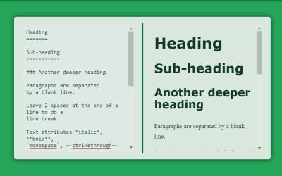 Vue Markdown Editor Example