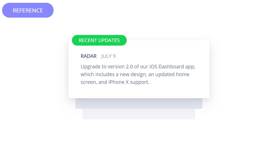 JS Stripe Notification Animation