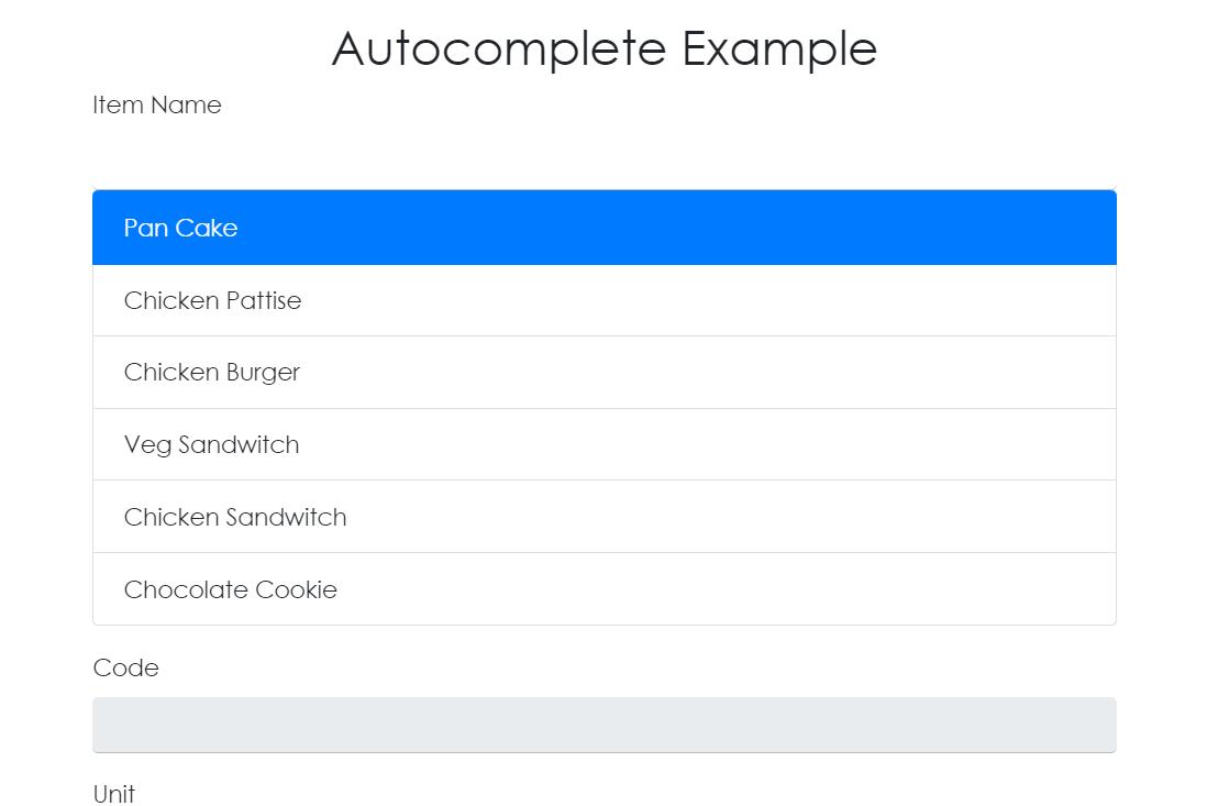React Autocomplete Input Text Box