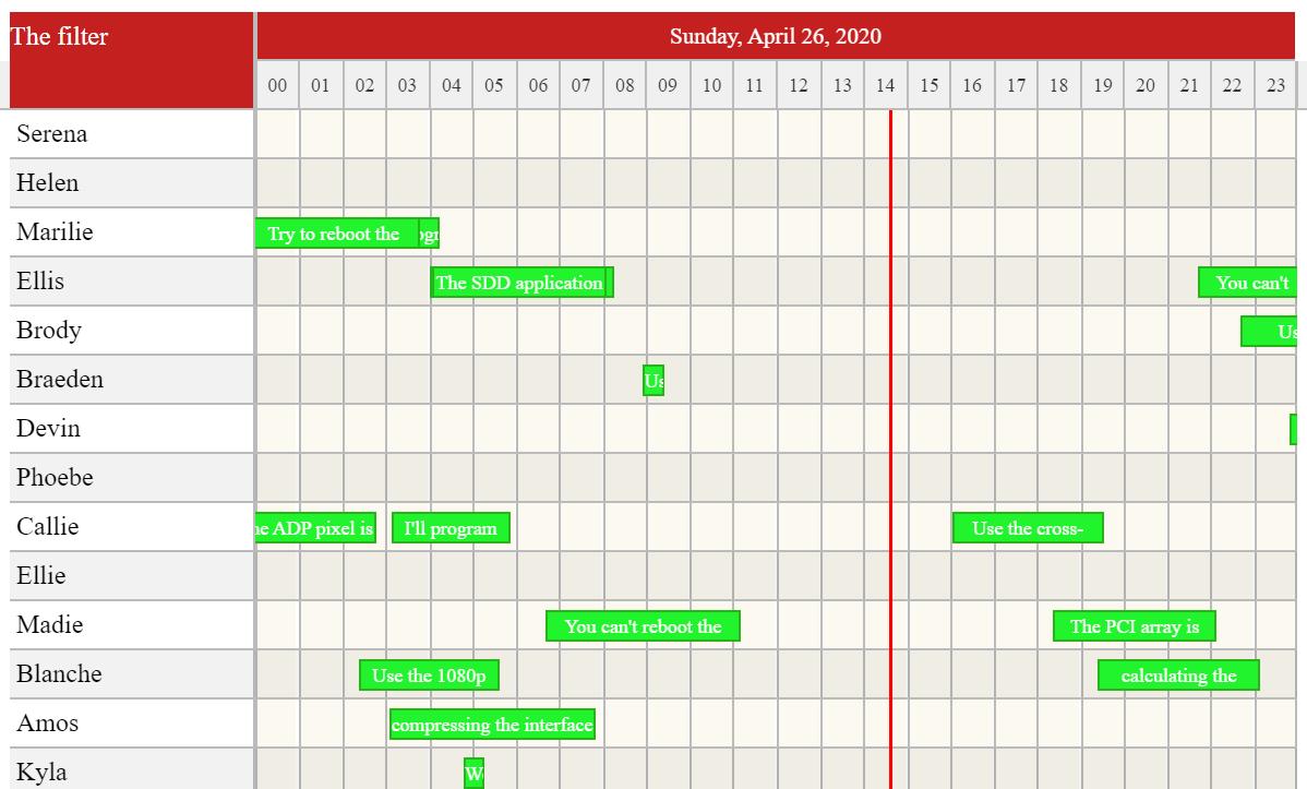 React Calendar Timeline