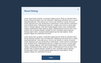 React Dialog Component