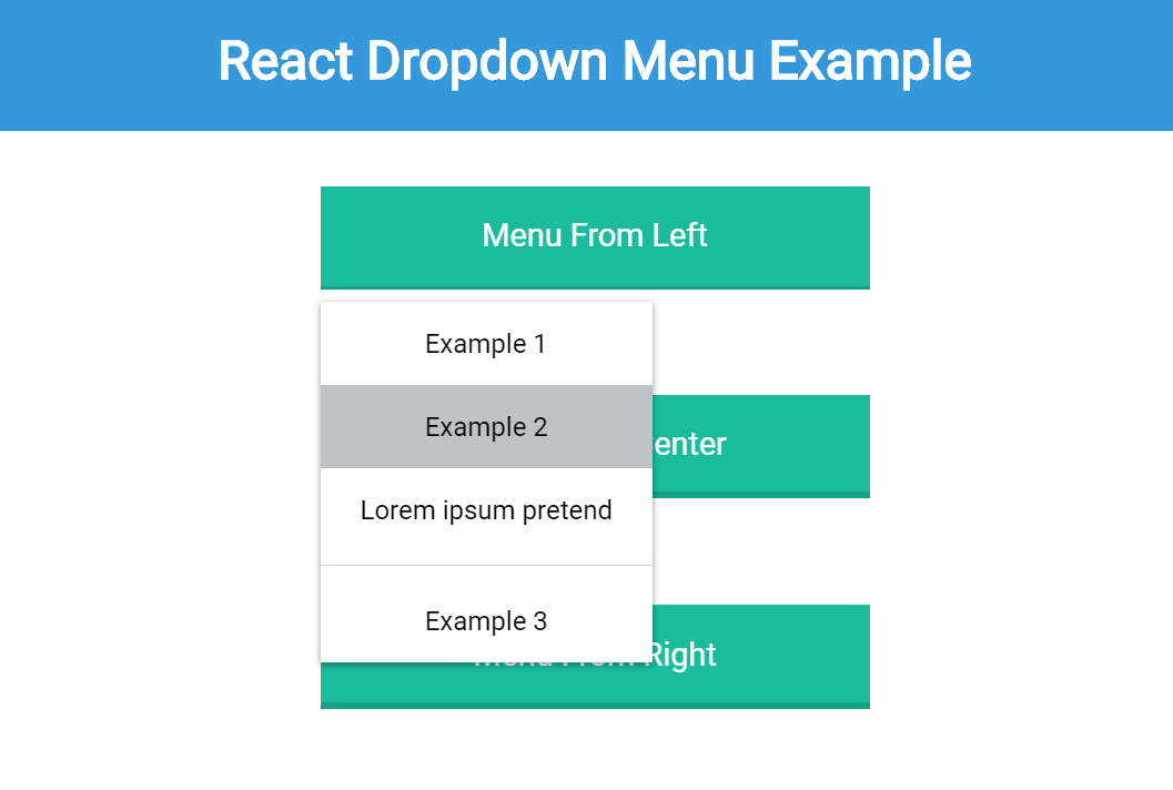 React Dropdown Menu Example