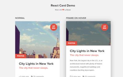React JS Card Example