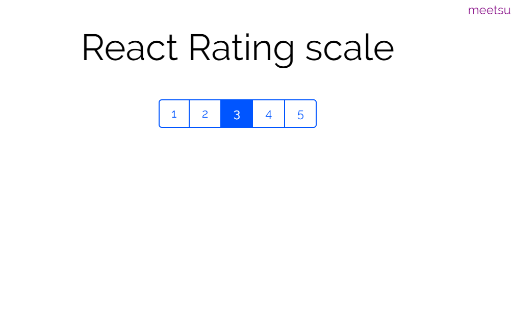 React Number Rating Scale Design