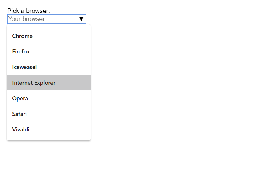 React Select Autocomplete Dropdown
