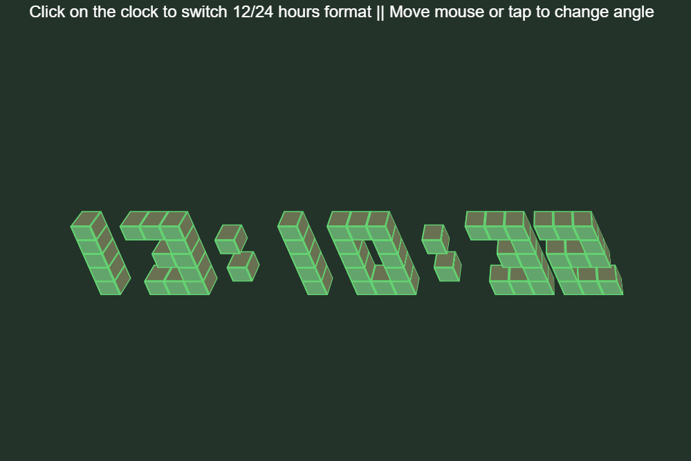 ReactJS 3D Clock Design Using CSS3