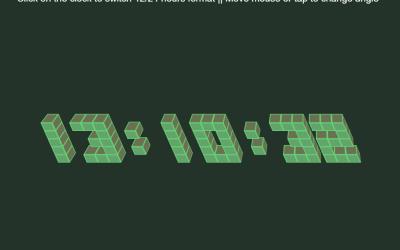 ReactJS 3D Clock Design Using CSS3