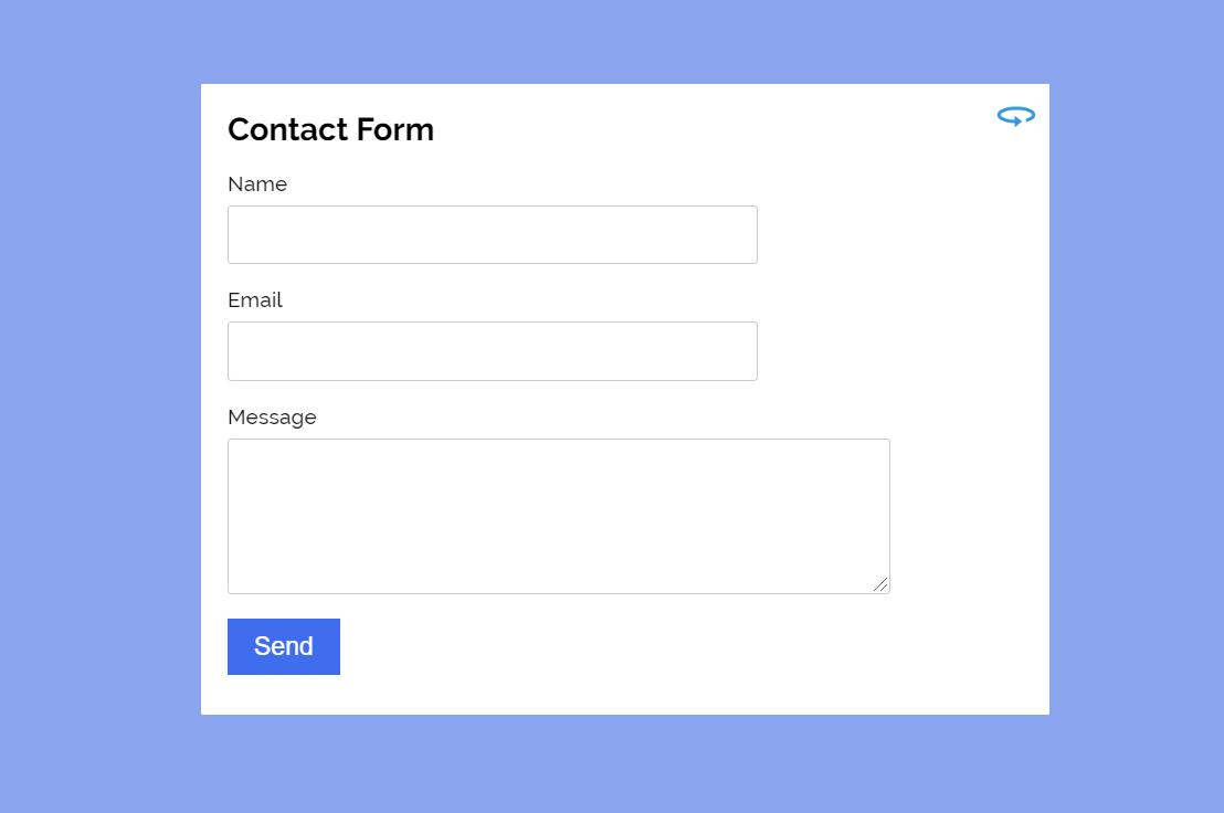 Contact Form ReactJS Example