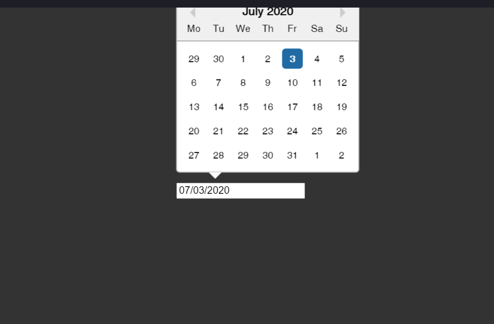 React Datepicker Example