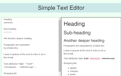 React Editor Simple Example