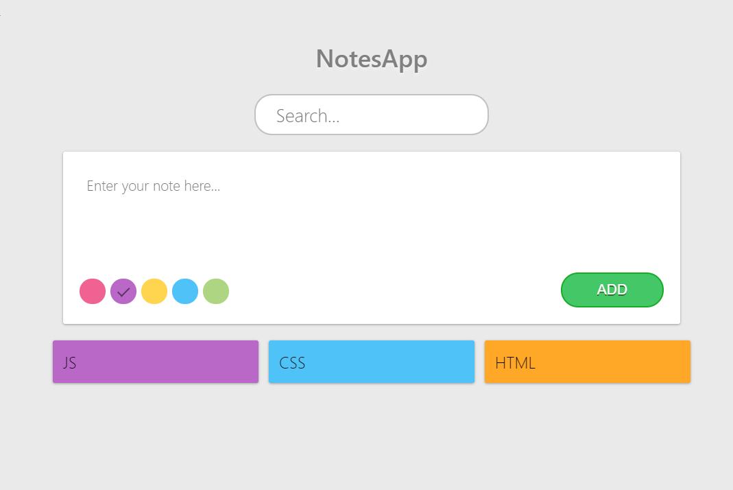 React JS Notes Taking