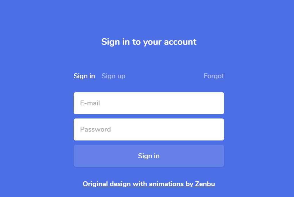 ReactJS Sign UP Login Form Design