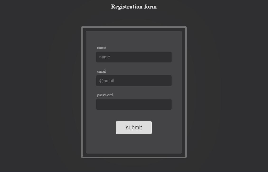 Registration Form in ReactJS