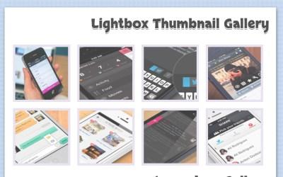 Basic Lightbox Image Thumbnail Gallery