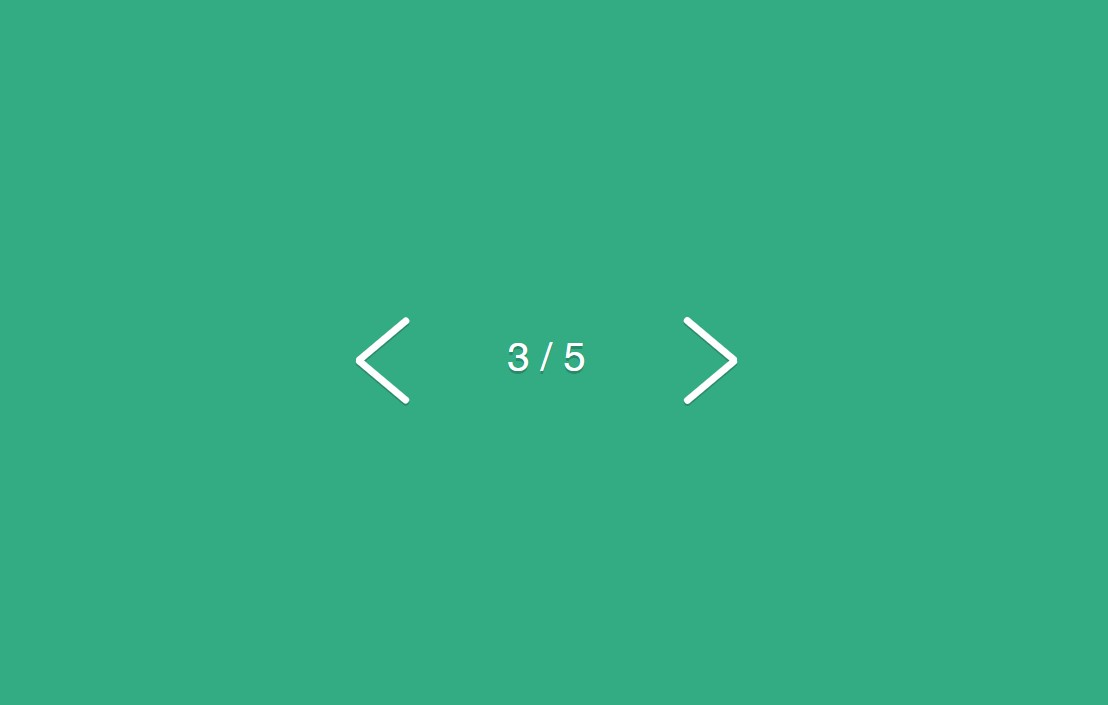 Clean JavaScript Flexing Pagination Arrows