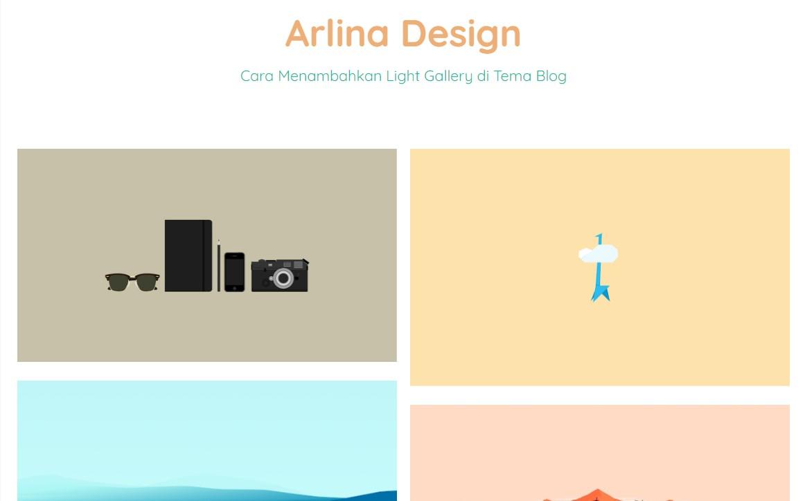 JavaScript Card Thumbnails Light Gallery