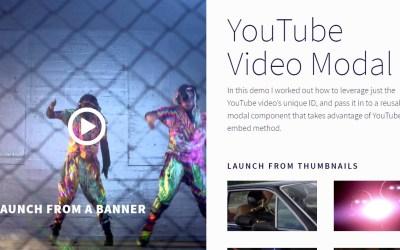 YouTube Video Modal Thumbnail Example