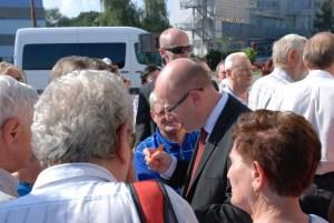 Předvolební tour v Orlové 9