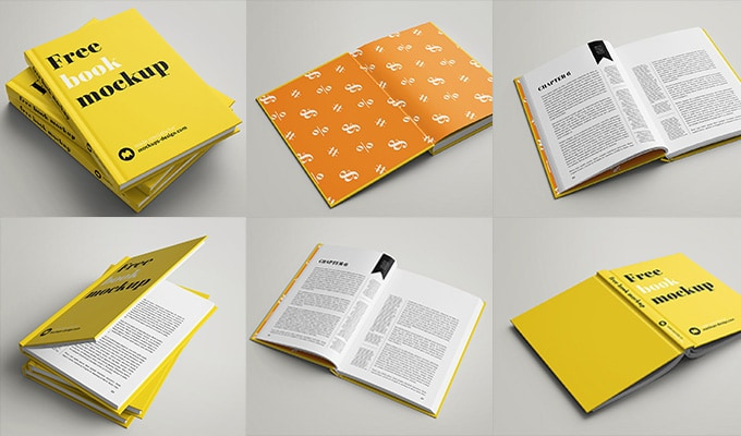 The download contains two psd files, one with one single book template and the other with a stack of 3 book mockups. 25 Best Free Book Mockups Psd Cssigniter