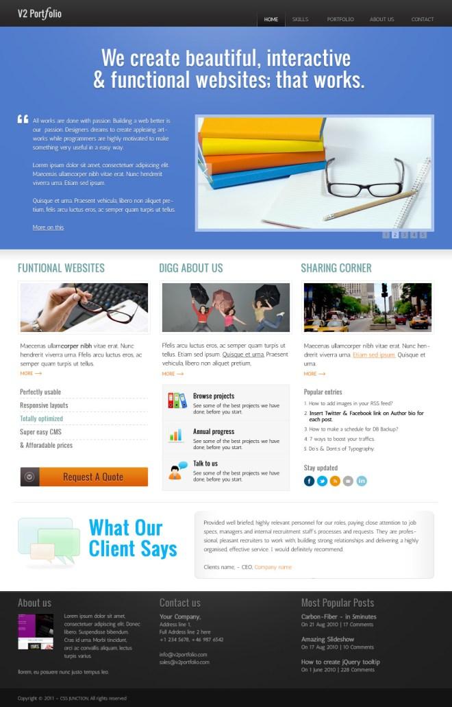 Portfolio PSD Home page