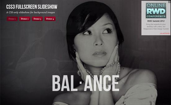 CSS3 Fullscreen Slideshow
