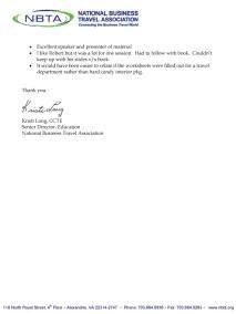 NBTA Testimonial
