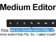 Medium Style Inline Rich Text Editor - Medium Editor
