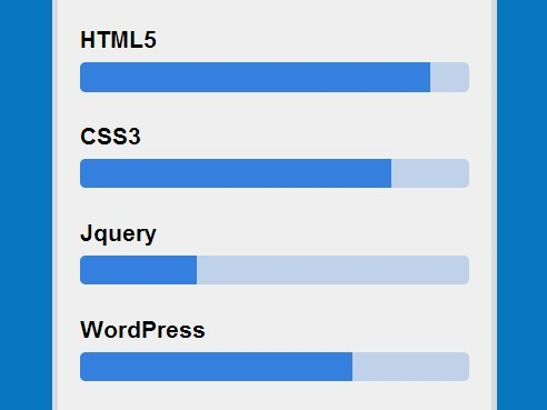 Create Flat Skill Bars with Pure CSS