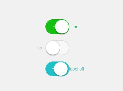 iOS 7 Style Switches with Pure CSS/CSS3