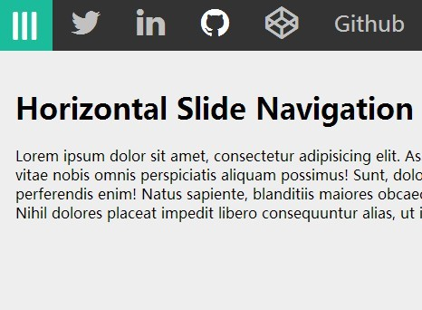 Horizontal Slide Navigation Menu with Pure CSS/CSS3