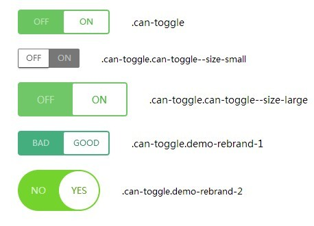 Css style checkbox as toggle button