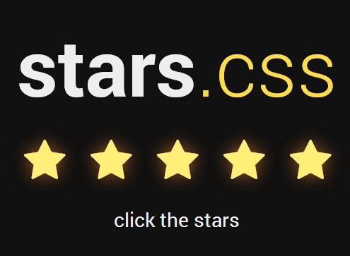 Simple 5-star Rating System with CSS and Html Radios
