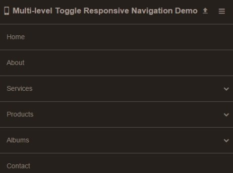 Multi-level Toggle Responsive Navigation Menu using Pure CSS