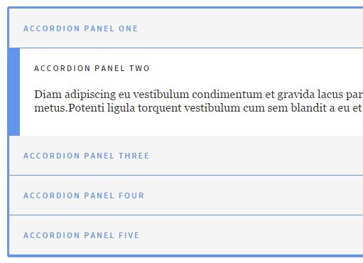 Smooth Vertical Accordion Panels with Pure JS and CSS3