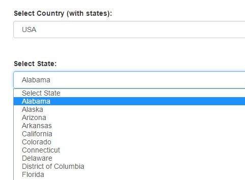 Generic Country & State Dropdown List - countries js | CSS Script