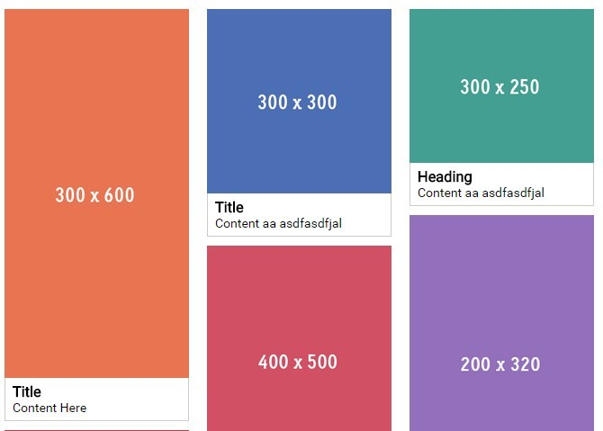 Pinterest-like Responsive Fluid Grid Layout with Pure JavaScript