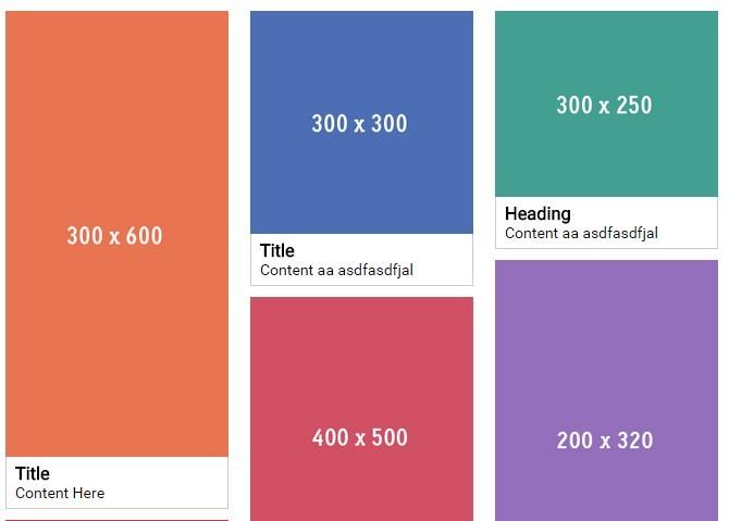 Pinterest-like Responsive Fluid Grid Layout