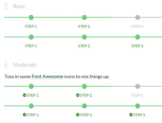 Responsive Step Progress Indicator with Pure CSS