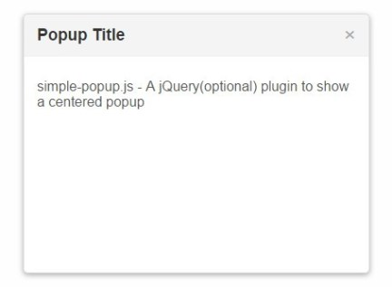 Simple Clean Popup Window with Pure JavaScript – Simple Popup