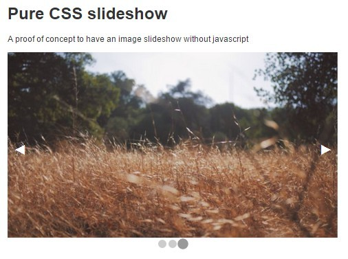 Basic Image Slideshow with Pure CSS