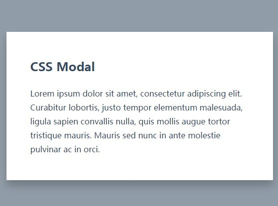 Simple Modal Box Using CSS and :target Pseudo Class