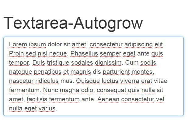 JavaScript Library For Auto-grow Textarea Based On Its
