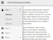 Vertical Responsive Menu