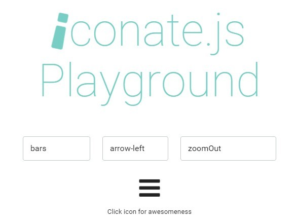 JavaScript Library To Create Transform Animations Between Icons – Iconate
