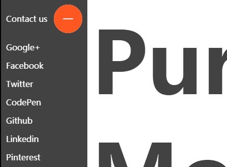 Morphing Side Menu with Pure CSS / CSS3