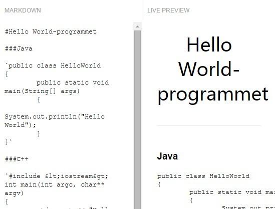 Lightweight Markdown Parser & Editor In JavaScript – WriteDown