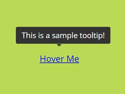 Pure HTML5 / CSS3 Tooltips – Showet